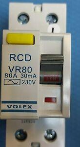 VOLEX VR80 RCD 80AMPS 30MA 230V 80A