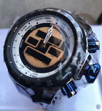 New Mens Invicta 12587 Venom Swiss Quartz RARE Black Rubber Strap Watch