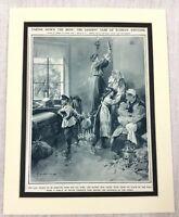 1914 WW1 Original Print Russian Polish Refugees Fleeing Polish Peasants War