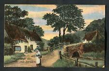 Posted 1917 Art Card: The Bridge O'er the Stream