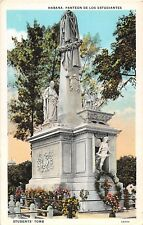 Cuba postcard Havana Habana Students Tomb Panteon de los Estudiantes