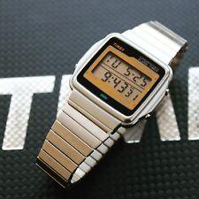 NOS Rare vintage Timex slim dress gents men's digital watch Quartz LCD