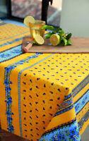 Nappe Luxe Coton anti-taches Enduit Téflon Provence 200x155cm.79x60 Inch.6,5feet
