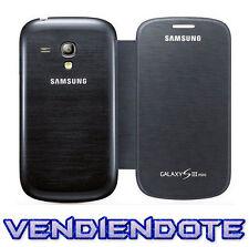 Funda Flip Cover Tapa Libro para Samsung Galaxy S3 Mini i8190 Negro Negra