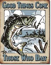 Pesca sportiva pescatore USA Metallo Decorazione Scudo-Good Things