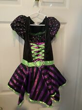 Witch Costume Child Size Small 4-6 Black Purple Green