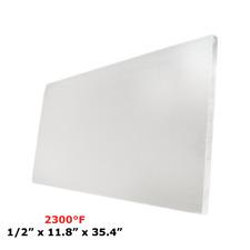 "1/2"" Refractory Ceramic Fiber Insulation Board 2300F 11.8"" x 35.4"""