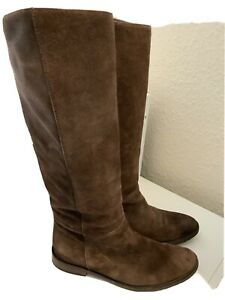 MaxMara Brown Suede Knee High Boots Size 39.5/ 6.5 (129BB)