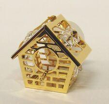3092 Bird House Casetta Cristallo Swarovski Components 24 CARATI Oro Crystal