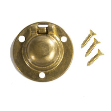 "Flush Ring Pull Round 1-1/2"" Brass"