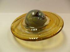 Hand Blown Glass Saturn - Glows In The Dark -