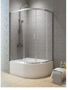 Offset Deep Shower Tray CABIN *MAXI* 120 x 85cm depth: 24cm-10 Years Warranty