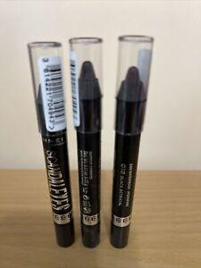 3x Rimmel Scandaleyes 24-Hr Waterproof Eye Shadow Stick #018 Black Betrayal