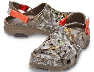 Men's CROCS Classic ALL TERRAIN Edge Walnut Realtree Camo  Clog Sandals
