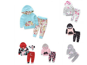 ELSKY Infant Baby Girls Clothing Set Long Sleeve Hoodie and Pant Cotton Outfit