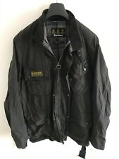 Mens Barbour International Wax jacket Black coat Medium / Large Lined
