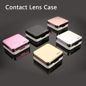 Fashion Contact Lens Case Mirror Soaking Container Business Travel Holder KitSL