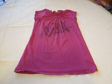 O'Neill ONeill Juniors womens pink USA L cotton t shirt top EUC pre owned#