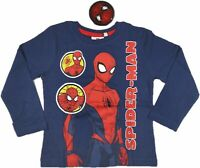 Ex Chain-store Official Spider-Man Blue Long Sleeve Tops 4 5 6 7 8 9