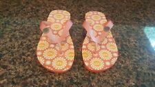 UGG Thong Sandal Flip Flop Floral Pink Orange Size 8