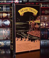 Five Novels by Mark Twain Sawyer Finn Wilson Yankee Court New Leather Bound Ed