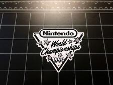 Nintendo World Championships 1990 NES retro video game B&W decal / sticker