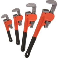 "4pc Heavy Duty Pipe Wrench Set Monkey Heat Treated Adjustable 8"" 10"" 14"" 18"" NEW"