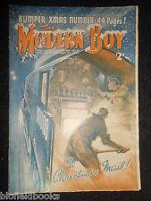 THE MODERN BOY; Pre War Comic 15th December 1934, Biggles/W E Johns/Mickey Mouse