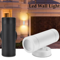 LED Wall Light Up & Down Single-Head Dual Head Sconce Porch Outdoor Fixture GU10