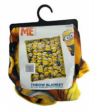 "Despicable Me Minions Super Soft Blue & Yellow Throw Blanket 50""x60"""