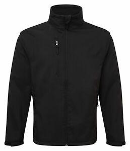 Mens Fortress Soft Shell Fleece Lined Waterproof Windproof Outdoor Work Jacket