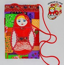 A small bag with Matreshka doll   Russian. Handmade. Quilting. Textile. %С-36