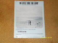 So Little Time for Lovin' sheet music from film THE LOOKING GLASS WAR 1970 5 pp.