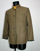 SCHNEIDERS Salzburg LODEN Women Wool Brown Blazer Jacket Trachten Coat Tyrol L