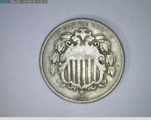 1867 Shield Nickel 5c ( 5-306 7m/o )