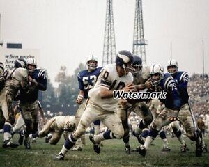 1966 NFL Minnesota Vikings QB Fran Tarkenton Game Action Color 8 X 10 Photo