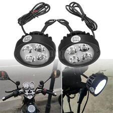 2 x 12V Universal Motorcycle Motorbike 4 LED Rearview Mirror Headlight Fog Light