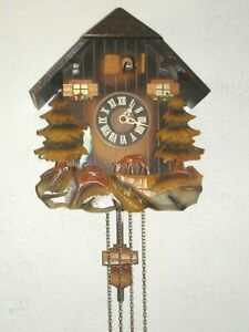 CUCKOO CLOCK ~ Non-Working Musical Waterfall  AS-IS Restore/Parts? GERMANY G2FC