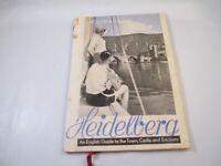 Vintage Ephemera Travel Book Map Heidelberg an english guide to town castle
