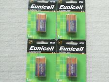 4 x Eunicell Heavy Duty 9V battery 6F22 carbon-zinc  smoke alarm batteries