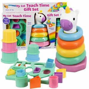 Learning Toy My 1st Sorting, Stacking Shapes Cups Rings Activity Toddler Toy Set