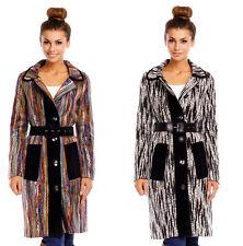 Damen Mantel Jacke Winterjacke mit Gürtel Parka Trenchcoat Winterja Herbst P-113