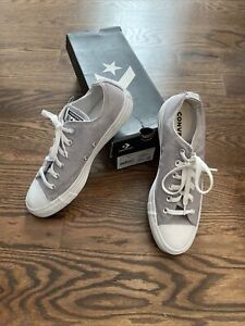Converse Chuck Taylor All Star OX Mens Shoes Wolf Grey-White 163181F Size M 7 W9