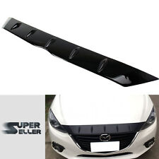 Glossy Surface Mazda 3 3rd Maxx Sedan Hatchback Hood Front Lip Bonnet Spoiler