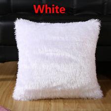 Home Decor Sofa Car Seat Cushion Cover Throw Pillow Cases Fur Plush Winter Warm