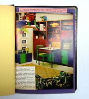 Vintage Scrapbook 1968 Home Economics School Project Student Authentic Magazine