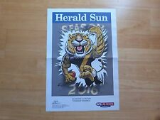 2016 RICHMOND TIGERS AFL POSTER - GAME DAY POSTER ROUND 1 Vs CARLTON