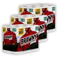 Brawny Full Sheet 18 ROLLS paper towel (3 packs of 6 rolls) = 27 regular rolls