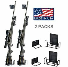 2 Packs of Gun Safety Solutions Easy Use Mount Anywhere Shotgun Rifle Rack 2Pcs