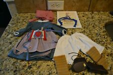 American Girl Kirsten's Meet Outfit with Book and Hair Ribbons